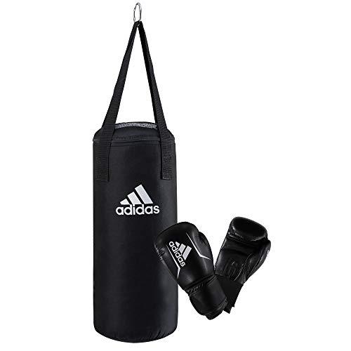 adidas Junior Boxing Set - Juego de Accesorios de Boxeo para niños, Color Negro