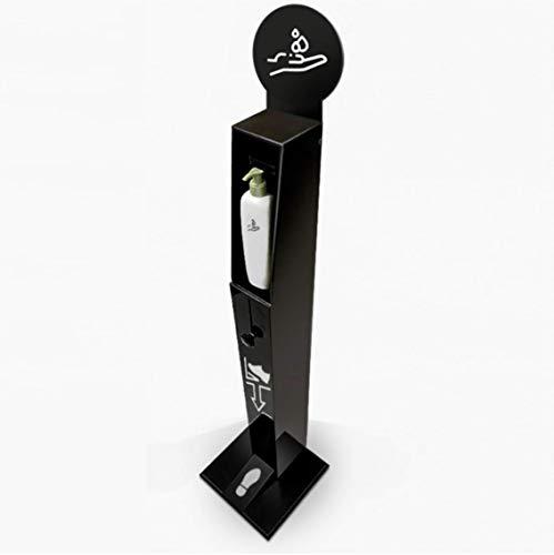 Columna dispensador de gel desinfectante   Torre gel de manos a pedal   Fácil uso   Disponible en Blanco o Negro   0 Contacto y 0 gasto energético  