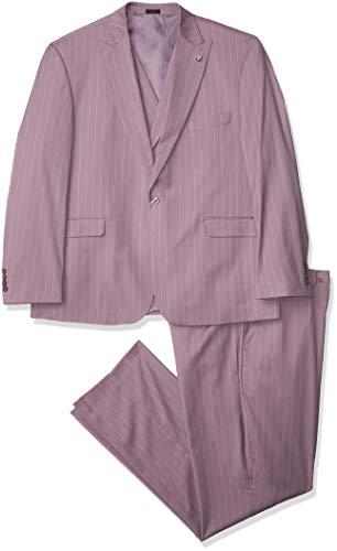 STACY ADAMS Men's 3 Pc. Modern Fit Suit, Orange, 48L