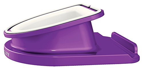 Leitz Rotating Desk Stand for iPad/tablet PC, Wow Range 62741062 - Purple