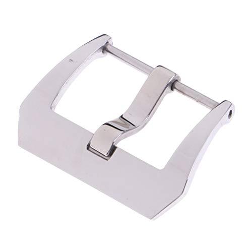 18mm 20mm 22mm 24mm 26mm roestvrij stalen horlogeband gesp zilverpoets