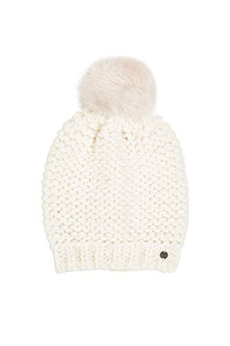 ESPRIT Accessoires Damen 100EA1P309 Beanie-Mütze, Off White (110), 1SIZE