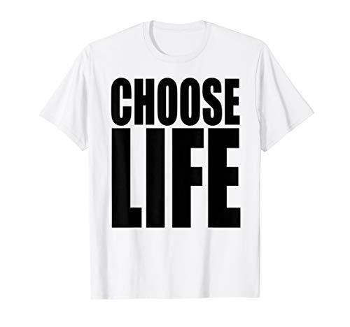 Choose Life T Shirt Vintage 80s Tee Damen Herren