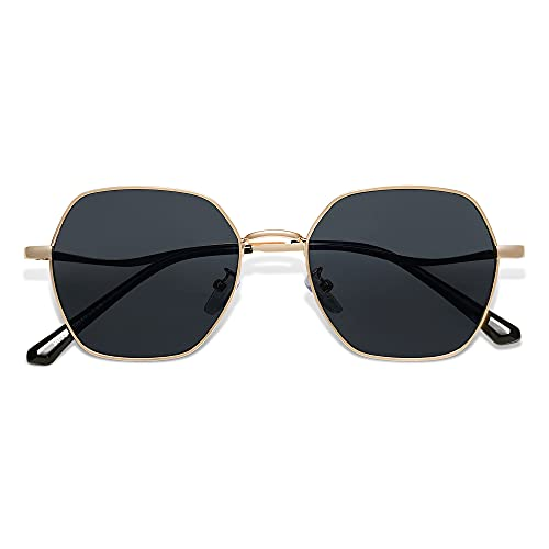 SOJOS Hexagon Square Sunglasses For Women Trendy Small Faces...