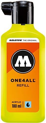 Molotow ONE4ALL Refill Acryl (Nachfülltinte für Permanentmarker, 1 Stück à 180 ml) Farbe 236 giftgrün