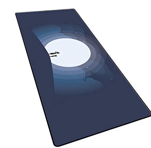 CAERTU Anti-Slip Rubberen Basis Home Muismat Schrijven Muismat Laser En Optisch Compatibel Voor Computer, Pc, Laplop Game Mat - A