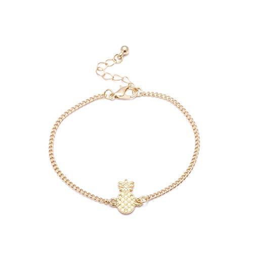 Zuiaidess Armbänder Für Damen,Einstellbare Armreif Übertrieben Persönlichkeit Einfach Ananas Anhänger Armbänder Für Mädchen Frauen Alltag Armband Schmuck