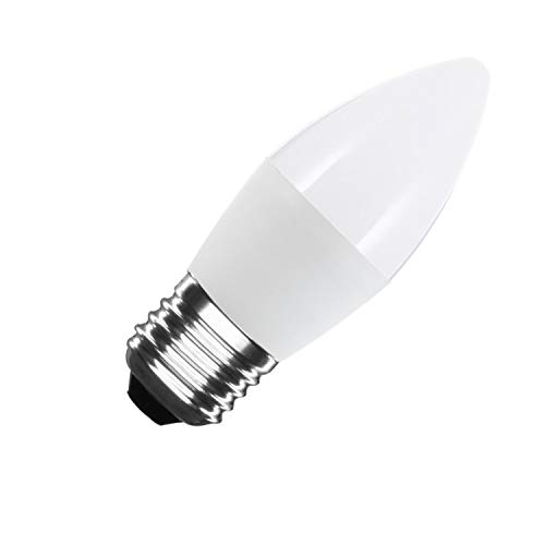LEDKIA LIGHTING Bombilla LED E27 Casquillo Gordo C37 5W Blanco Frío 6000K - 6500K