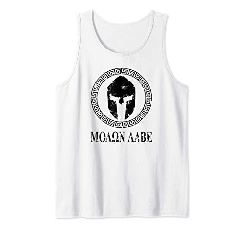 Molon Labe Profilo del Casco Spartan Gym Militare Fitness Canotta