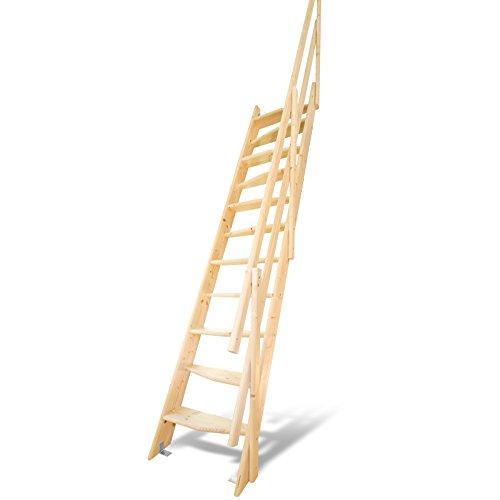 デザインステップ 木製ロフト階段 片側手すり仕様