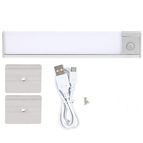 Niunion Luz Debajo del gabinete, Sensor de Movimiento del Cuerpo LED Luz Debajo del gabinete Carga USB para Armario de Cocina(White Light)