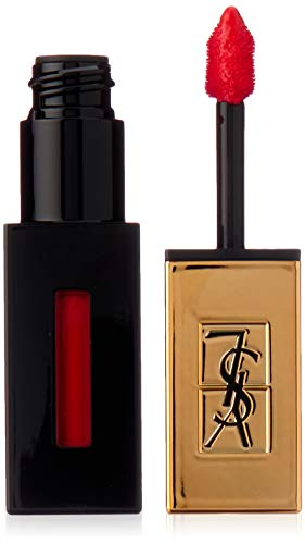 Yves Saint Laurent Rouge Pur Couture Vernis a Levres Glossy Stain Rouge Laque for Women, 0.2 Ounce