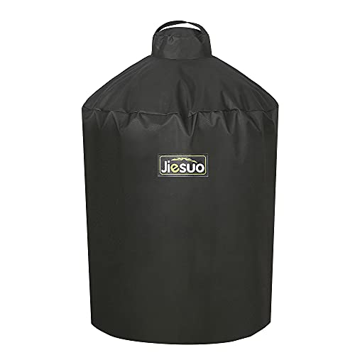 Jiesuo Cover for Large Big Green Egg, Grill Accessories for Large Big Green Egg, Heavy Duty Waterproof Grill Cover