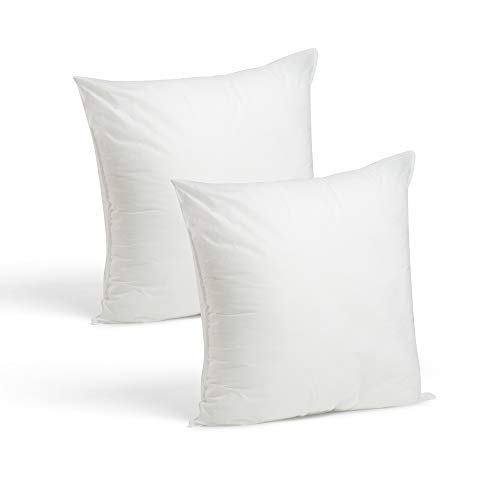 Foamily Throw Pillows Set of 2-18 x 18 Premium Hypoallergenic Pillow Inserts for Couch or Bed Decorative Bedding - Made in USA