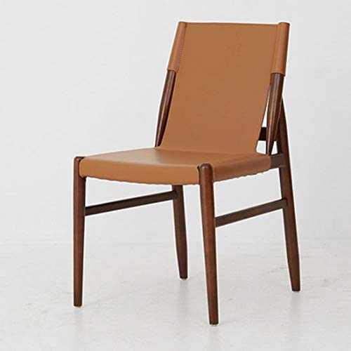 Latest item ZNBJJWCP Creative Solid Wood Dining Chair Mi Leather Home 2021new shipping free Modern