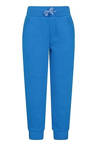 Mountain Warehouse Pantalon de Jogging pour Enfant - Taille réglable - Respirant - Poches Avant - Facile d'entretien - pour Les Voyages et la randonnée en Hiver Bleu Cobalt 9-10 Ans