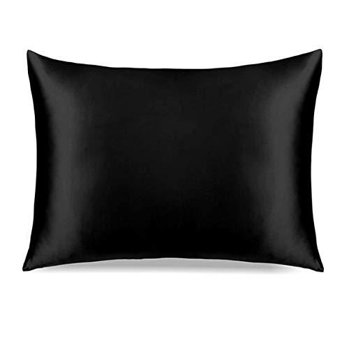 Revestimientos de cama Funda de almohada de seda, funda de almohada de hielo almohada de seda cubierta de toallas ropa de cama de doble cara de seda de morera, juego de cama funda de almohada, funda d