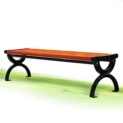 Panchina in Ghisa e Legno Panca da Giardino, Terrazza Panchina con Gambe in Metallo, Modelli Differenti - 120cm (47 Inches), 150cm (59 Inches)