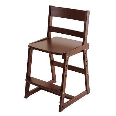 Cousin(カズン) 高さ調整チェア ダークブラウン 学習チェア 子供椅子
