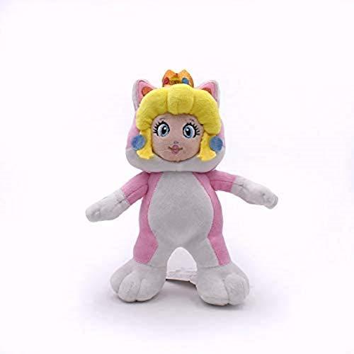 JIAL Cartoon 3D World Princess Rosalina Rosa Katze Plüschspielzeug mit Krone, Nette weiche gefüllte Puppe, Geburtstagsgeschenk für Mädchen 18 cm Chongxiang