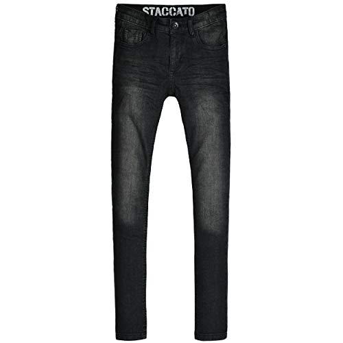 Staccato Jungen Jeans Leon - Regular Fit - Skinny Stretch - Black Denim - 5-Pocket-Style - Casual Größe 122