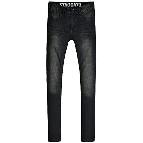 Staccato Jungen Jeans Leon - Regular Fit - Skinny Stretch - Black Denim - 5-Pocket-Style - Casual Größe 128