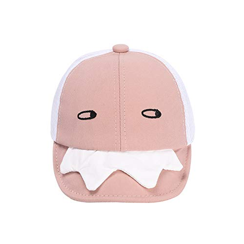 Sombrero para niños Verano Nueva versión Coreana de algodón Puro Media Malla Ojo Inclinado pequeño Monstruo Gorra de bebé Protector Solar niños Sombrero para el Sol
