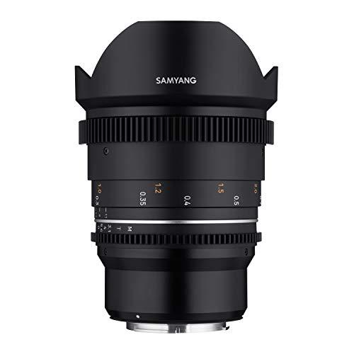 Samyang MF 14 mm T3,1 VDSLR MK2 Canon M – Obiettivo grandangolare cine-video per Canon M Mount, 14 mm di distanza focale fissa, Follow Focus, corone dentate in formato completo e risoluzione APS-C 8K