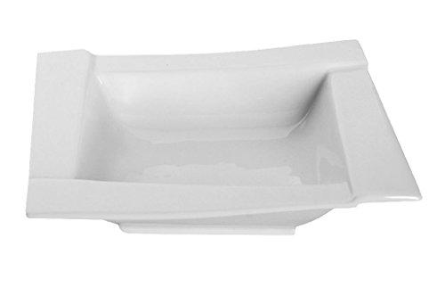 Dajar kubiko Assiettes Creuses 18 cm Ambition, Porcelaine, Blanc, 18 x 18 x 4,5 cm