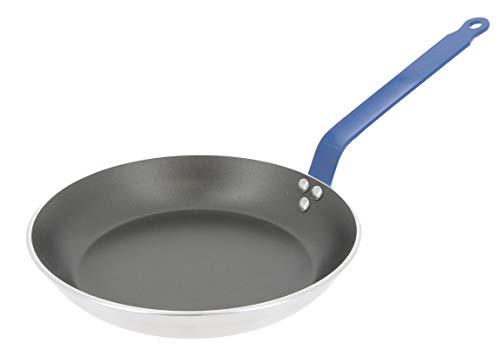 Choc Bratpfanne, rund, Antihaftbeschichtung, Aluminium, 3 mm dick, 24 cm, blauer Griff
