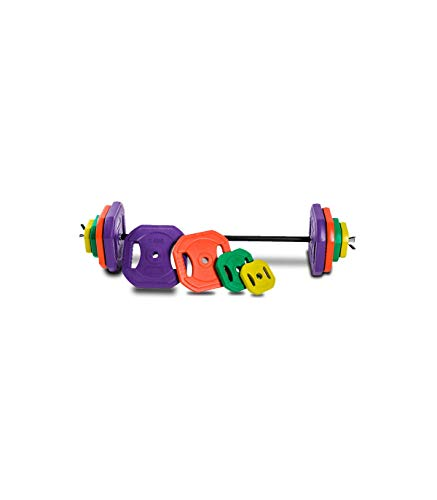 Wonduu Juego De Body Pump Set Pesas con Barra Y Discos De Colores De 20 A 50 Kg. 30 : 1,25 x 2 2,50 x 2 5 x 4