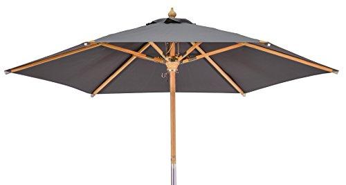 Kai Wiechmann Premium Sonnenschirm Sunshine Luxus ø 240 cm anthrazit grau UV-Schutz 50+