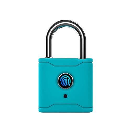 Sgxiyue Bluetooth Smart Cadlock Fingerprint Lock Smart Lock sin Llave con aplicación ttlock (Color : Indigo Blue)