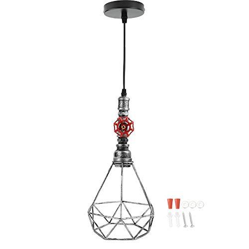 Professionele hanglampenset, E27 hanglamphouder, vintage licht uittrekbare wandlamp met draadkooi lampenkap voor woonkamer slaapkamer eetkamer keuken rooster klaar bruin