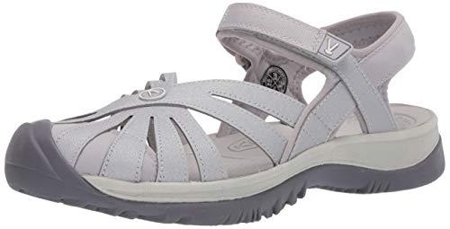 KEEN Women's Rose Sandal, Light Gray/Silver, 9.5