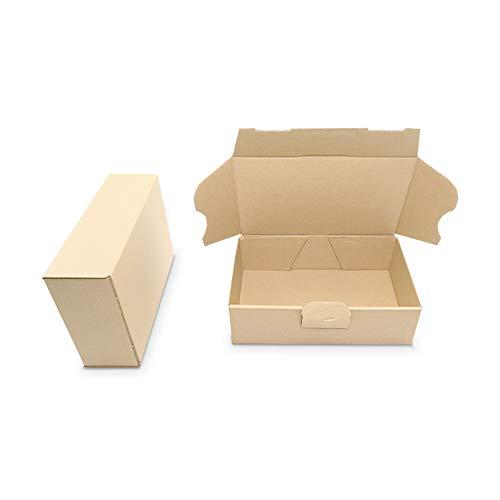 verpacking 100 Maxibriefkartons Versandkartons Faltschachtel Faltkarton Maxibrief 160 x 110 x 50 mm, Braun, MB-1