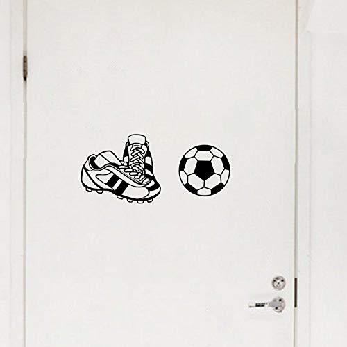 Fußballschuhe tor fußball aufkleber kunst wandaufkleber junge schlafzimmer spielzimmer decoration50X70cm