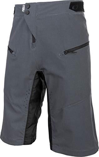 O'Neal | Pantaloncini da Mountain Bike | MTB Mountain Bike DH Downhill FR Freeride | Traspirante, Prese d'Aria a Taglio Laser, Taglio Attivo | Pantaloncini Pin It | Adulto | Grigio | Taglia 36/52