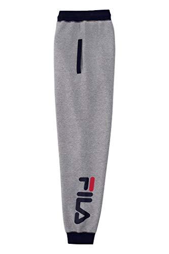 Fila Jogginghose für Jungen mit Heritage-Logo, Fleece - Grau - Groß