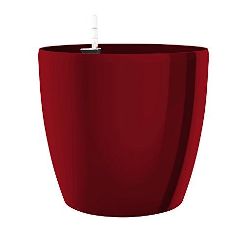 Emsa Blumenkübel für den Innenbereich, Selbstbewässerungssystem, Ø 30 cm, Rubinrot, Casa Brilliant, 517569