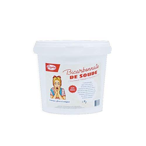 VOZYDEO - Bicarbonate de Soude - 2 KG - Agent d'Entretien Polyvalent - Nettoyant et Désodorisant - Hygiène et Bien-être - Substitut de Levure - Produit Naturel, Économique et Écologique