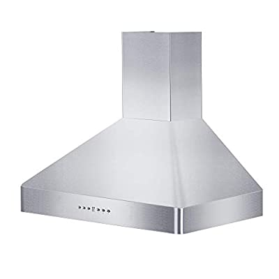"Z Line KF2-36 36"" 900 CFM Wall Mount Range Hood in Stainless Steel"