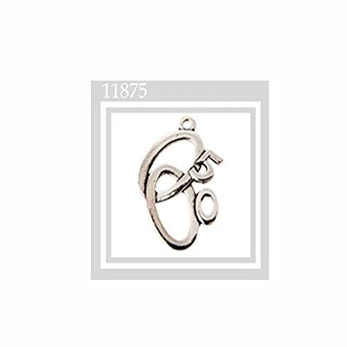 Formoso Pendentif alliances 50 Ans Anniversaire en métal zamak Décoration Bonbonnière Set 12 pièces Art 11875