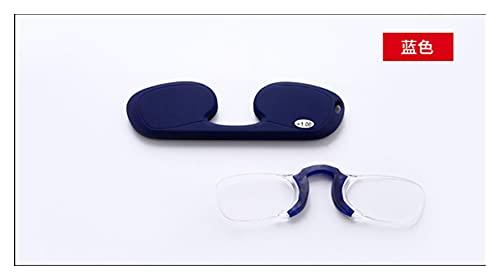 SDLSH Cubierta A Prueba De Polvo Gafas de Lectura de Bolsillo, lupas presbiopic, lectores sin Montura con Gafas, Bolsa De Almacenamiento De Cubiertas Antipolvo (Color : Blue, Specification : 350)