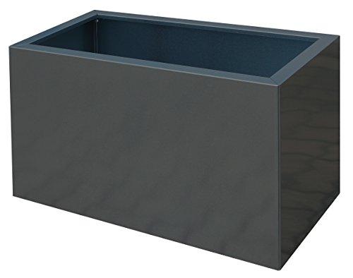 Palatino Exclusive Line Hochbeet/Pflanzkübel Lotte aus verz. Stahl Anthrazit 100 x 40, Tiefe 50 cm, Modular