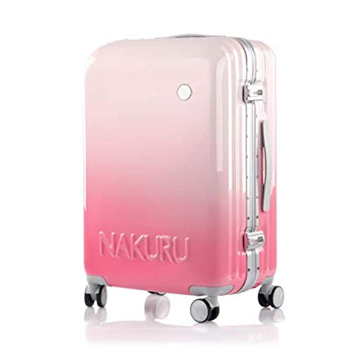 Lyl Travel Maleta masculina versión coreana de la personalidad Marea equipaje 20 pulgadas Contraseña embarque 26 millones a la rueda Trolley caso Mujer, Pink (Rosa) - yh5436