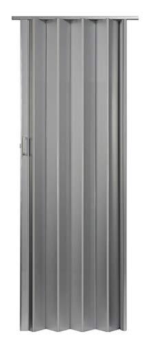 "LTL Home Products OK3680S Oakmont Interior Accordion Folding Door 36"" x 80"", Silver"