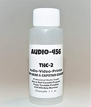 1  Audio 456  2 oz  THC-2 Pro Audio/Video Tape Head & Capstan Cleaner for Reel to Reel + Cassette Decks +Lasers+Tape Echo + Projectors + Portable & More formally SR-Audio  DOES NOT CONTAIN ACETONE