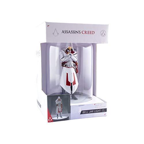 Assassins Creed Kuppelleuchte Ezio weiß/rot, 100 % Kunststof, in Geschenkbox.