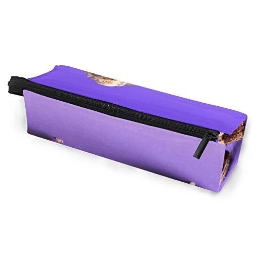 Sonnenbrillen Soft Protector Box Rhombus Federmäppchen Etui Tasche Macaron Schokolade Keks Multifunktionstasche mit Reißverschluss für Studenten, Kinder, Teenager, Mädchen, Frauen, Männer, Jungen